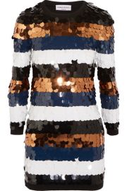 Sequined Wool-Jersey Mini Dress by Sonia Rykiel at Net A Porter
