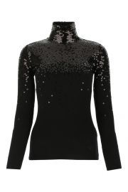 Sequinned Turtleneck Sweater by Valentino at Cettire