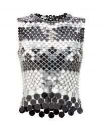 Sequinned chainmail top at Matches