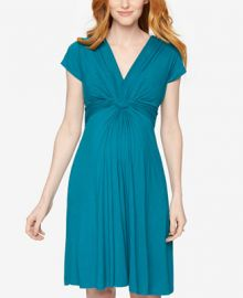 Seraphine Maternity Twist-Front A-Line Dress at Macys