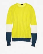 Serena's yellow and green sweater at Intermix