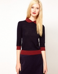 Sessun Knit with Contrast Collar at Asos