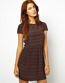 Sessun Wax Ko Ko Dress in Woven Africa Print at Asos