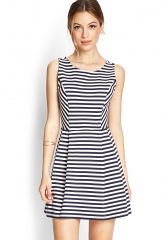 Set Sail Fit and Flare Dress at Forever 21