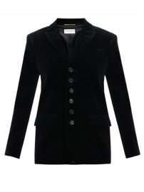 Seven-button cotton-velvet blazer at Matches