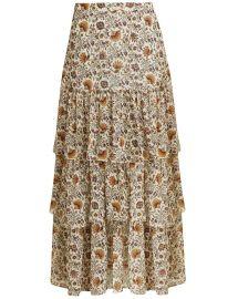 Shailene Paisley Skirt  at Veronica Beard