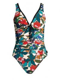 Shan - Clara Floral-Print One-Piece Swimsuit at Saks Fifth Avenue