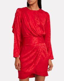 Shanaya Drape Moire Dress by Ronny Kobo at Intermix