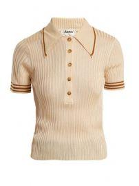 Shanita ribbed-knit polo-shirt at Matches