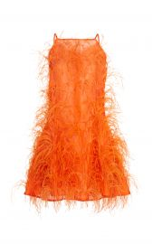 Shannon Feather-Embellished Silk-Tulle Mini Dress by Cult Gaia at Moda Operandi