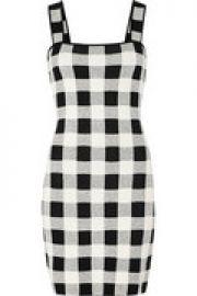 Sharneel plaid jacquard-knit mini dress at The Outnet
