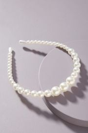 Shashi Tapered Pearl Headband at Anthropologie