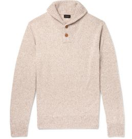 Shawl-Collar Mélange Merino Wool-Blend Sweater at Mr Porter