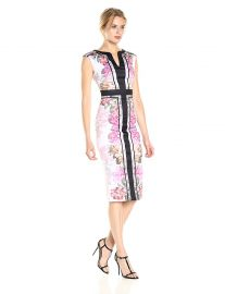 Shawnie Painted Posie Fitted Midi Dress by Ted Baker at Amazon