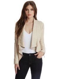 Shayna Draped Leather Jacket at Marciano