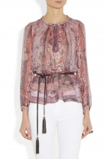 Shayne paisley blouse at Net a Porter at Net A Porter