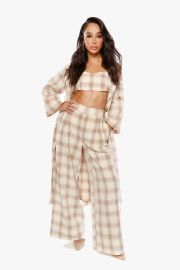 She Loves the Attention Pleated Plaid Pants by The Cara Santana Collection at The Cara Santana Collection