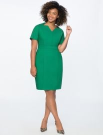 Sheath Dress with Cut Out Neckline by Eloquii at Eloquii