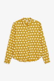 Sheep and flower print blouse at Monki