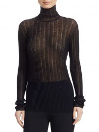 Sheer Wool-Blend Turtleneck at Saks Fifth Avenue