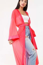 Sheer Mesh Kimono Jacket by Forever 21 at Forever 21