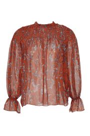 Sheer Smocked Blouse by Slate  Willow at Rent the Runway