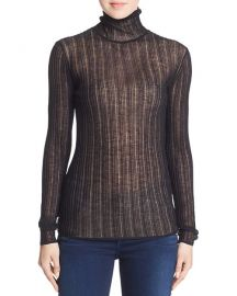 Sheer Turtleneck Top at Bloomingdales