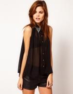 Sheer black blouse like Tinas at Asos