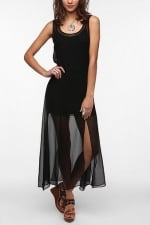 Sheer black maxi dress at Urban Outfitters