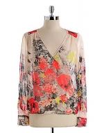 Sheer floral blouse at Lord & Taylor