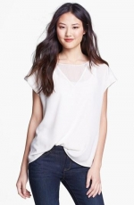 Sheer inset top by Pleione at Nordstrom