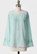 Sheer mint blouse like Sashas at Ruche