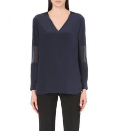 Sheer panel silk top by Paul Smith at Selfridges