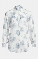 Sheer print top by Tildon at Nordstrom
