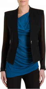Sheer sleeve blazer by Helmut Lang at Barneys