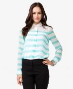 Sheer striped shirt at Forever 21 at Forever 21