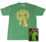 Sheldons green Manbot shirt at Amazon