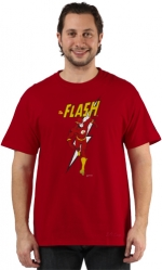 Sheldon's red flash shirt at 80s Tees
