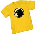 Sheldon's yellow hawk man shirt at Amazon