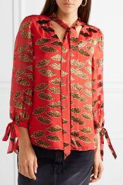 Shelia devoré-chiffon blouse at Net A Porter