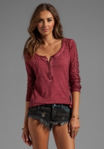 Shell stitch lace top by Free People at Revolve