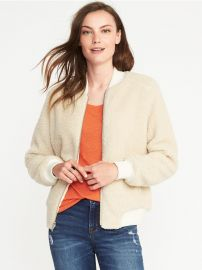 Sherpa Bomber Jacket by Old Navy at Old Navy