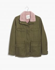 Sherpa-Trimmed Surplus Jacket at Madewell