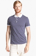 Shipley andamp Halmos and39Broomeand39 Multi Stripe Jersey Polo at Nordstrom