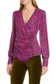 Shirley Surplice Side Button Top by Veronica Beard at Nordstrom Rack