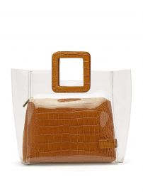 Shirley crocodile-effect leather and PVC tote at Matches