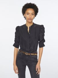 Shirred Sleeve Silk Blouse by Frame at Frame