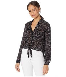 Shirttail Tie Front Top at Zappos