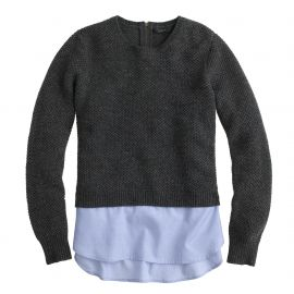 Shirttail sweater at J. Crew