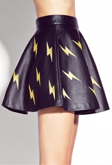 Shocking Faux Leather Skirt at Forever 21